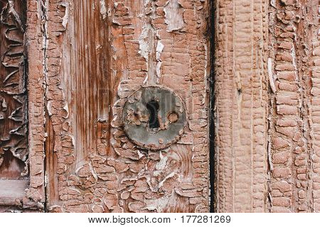 Old Wooden Door In Fake Paint
