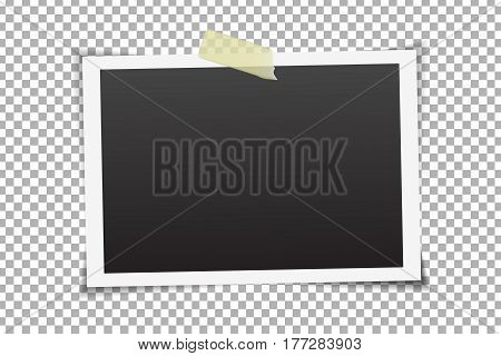 Vector photo frame on the transparent background.