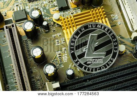 Crypto currency, litecoin and computer fee finance