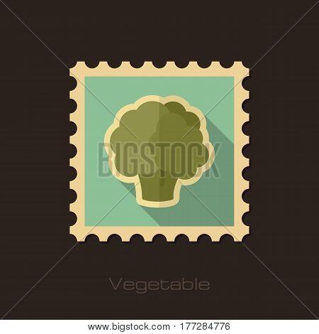 Cauliflower flat stamp. Vegetable vector illustration eps 10