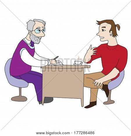 Doctor and patient consultation diagnosis People Collaboration vector together team work challenge