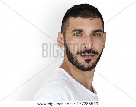 Middle Eastern Man Casual Studio Portrait