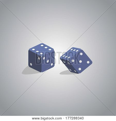 Two dice on a light gray background