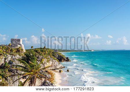 Tulum Ruins And Caribbean Sea