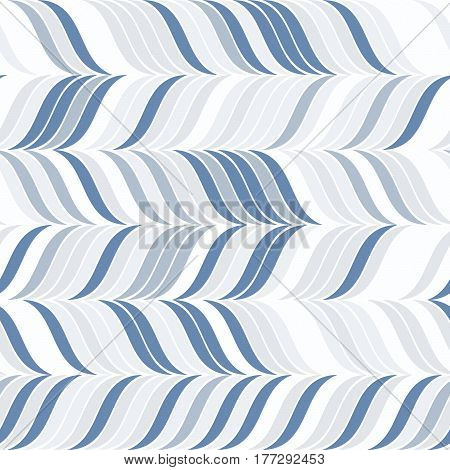 Abstract Seamless Pattern With Set Of Wavy Elements.