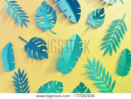 Tropical Handcrafted Papercraft Nature Petals