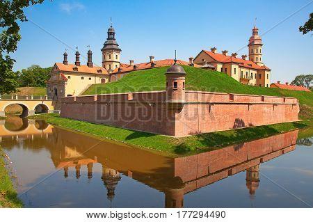 Medieval castle in Nesvizh, Republic of Belarus.