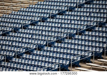 Stadium chairs in blue color