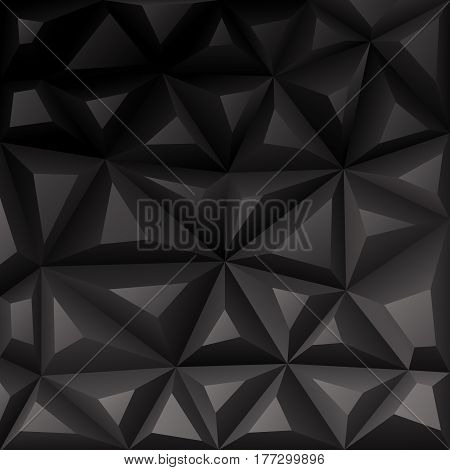 Black background abstract polygon. Stock Illustration. EPS 10