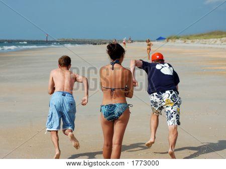 Racing Down The Beach