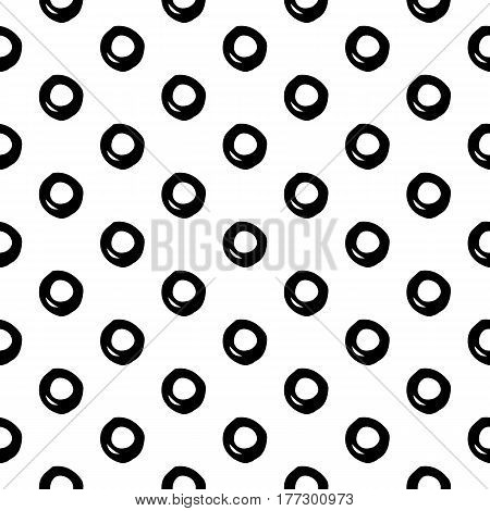 Abstract doodle pattern with hand drawn bubbles. Cute vector black and white doodle pattern. Seamless monochrome doodle pattern for fabric, wallpapers, wrapping paper, cards and web backgrounds.