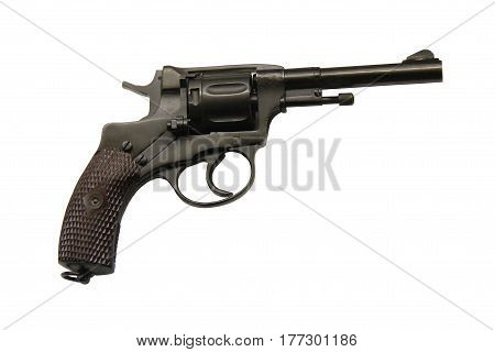 A Classic Military Revolver Hand Gun Weapon.