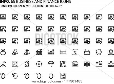 Finance And Business Mini Line, Illustrations, Icons