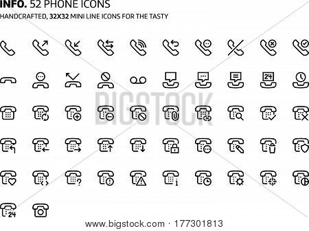 Phone Mini Line, Illustrations, Icons