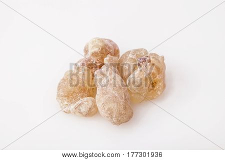 Light red Frankincense resin from Oman, isolated on  the white background