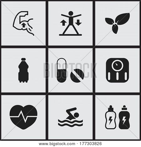 Set Of 9 Editable Training Icons. Includes Symbols Such As Plant, Heartbeat, Training And More. Can Be Used For Web, Mobile, UI And Infographic Design.