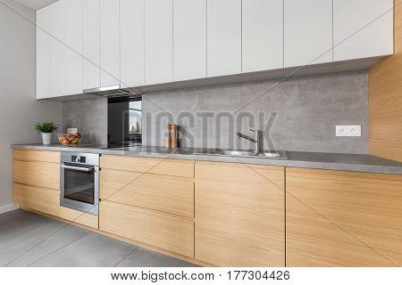 Kitchen With Concrete Worktop