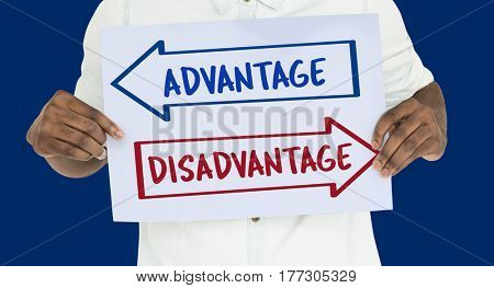 Arrows Opposite Choice Advantage Disadvantage Icon