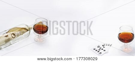 Abstract Composition Of Drinking.
