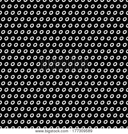Abstract trendy doodle pattern with hand drawn dots. Cute vector black and white doodle pattern. Seamless monochrome doodle pattern for fabric, wallpapers, wrapping paper, cards and web backgrounds.