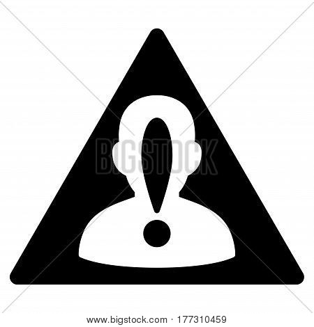 Blacklisted Person vector icon. Flat black symbol. Pictogram is isolated on a white background. Designed for web and software interfaces.