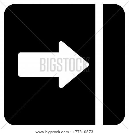 Expand Menu Right vector icon. Flat black symbol. Pictogram is isolated on a white background. Designed for web and software interfaces.