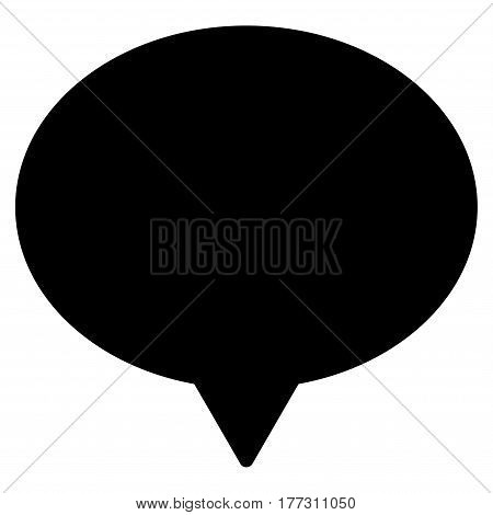 Hint vector icon. Flat black symbol. Pictogram is isolated on a white background. Designed for web and software interfaces.