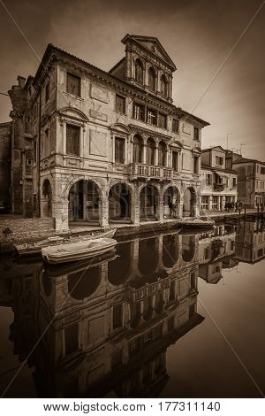 Abandoned renaissance building infested by ghost in Chioggia, Italy