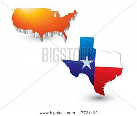 lonestar state orange united states icon