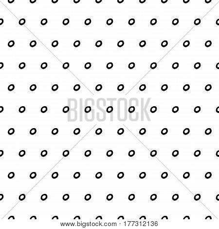 Abstract polka dot pattern with hand drawn dots. Cute vector black and white polka dot pattern. Seamless monochrome polka dot pattern for fabric, wallpapers, wrapping paper, card and web backgrounds.