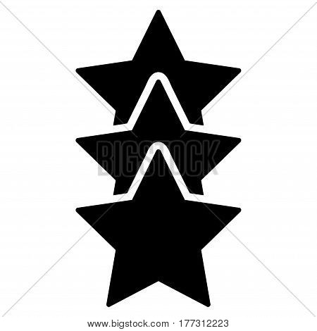 Rating Stars vector icon. Flat black symbol. Pictogram is isolated on a white background. Designed for web and software interfaces.