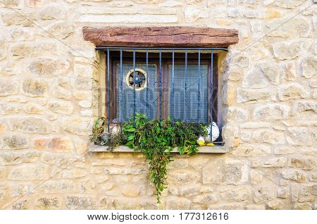 Window On A House In Calaceite, Spain