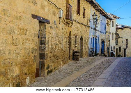 Street view in Valderrobres in Aragon Spain