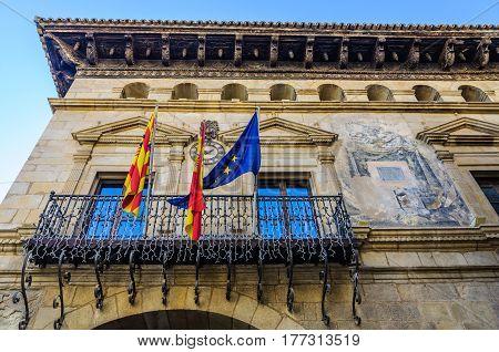 Town hall in Valderrobres in Aragon Spain