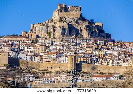 View Of The Village Of Morella, Spain