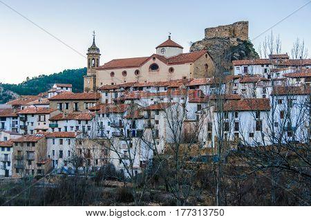 View Of Linares De Mora, Spain