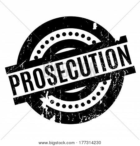 Prosecution rubber stamp. Grunge design with dust scratches. Effects can be easily removed for a clean, crisp look. Color is easily changed.