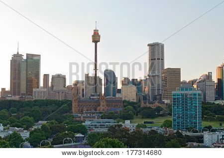 SYDNEY, AUSTRALIA - NOVEMBER 5, 2016: Sydney, where over 250 different languages are spoken, is the most populous city in Australia and a leading financial hub of the Asia Pacific region.