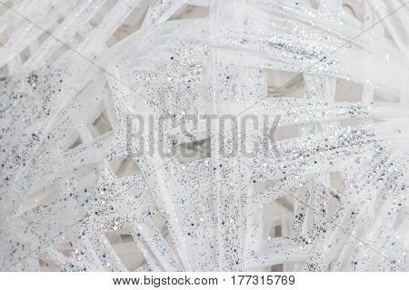 Glitter white and silver background. Abstract background