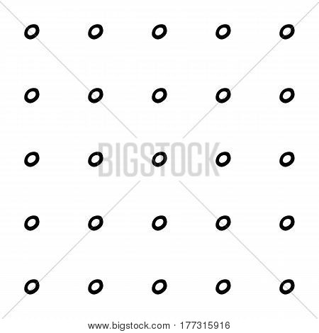 Abstract monochrome pattern with hand drawn ink spots. Cute doodle vector monochrome pattern. Seamless trendy monochrome pattern for fabric, wallpapers, wrapping paper, cards and web backgrounds.