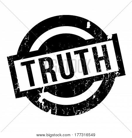 Truth rubber stamp. Grunge design with dust scratches. Effects can be easily removed for a clean, crisp look. Color is easily changed.