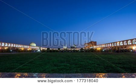 view on Naqsh-e Dschahan Square - Imam Square in Isfahan - Iran