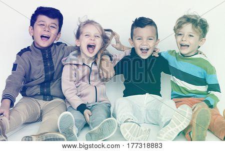 Schooler Friends Happiness Cute Playful
