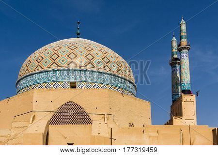 view on Jami mosque in Yazd -Iran