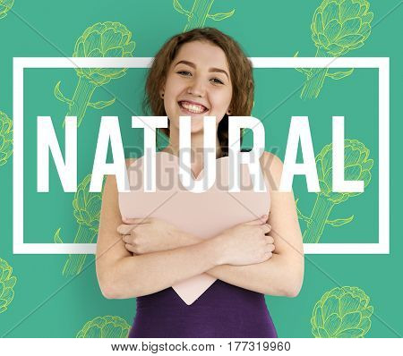 Natural Vitality Reviving Graphic Design Word