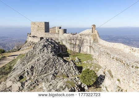 Ancient Castle in Marvão town, Portalegre District, Portugal