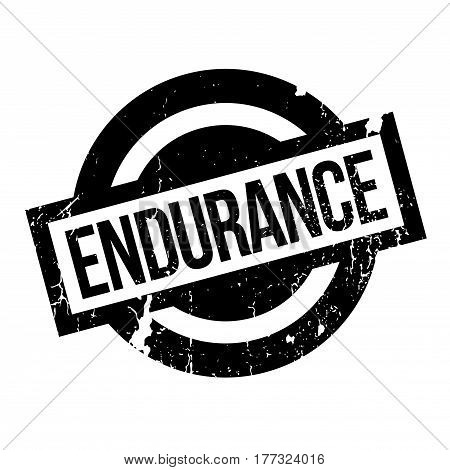 Endurance rubber stamp. Grunge design with dust scratches. Effects can be easily removed for a clean, crisp look. Color is easily changed.