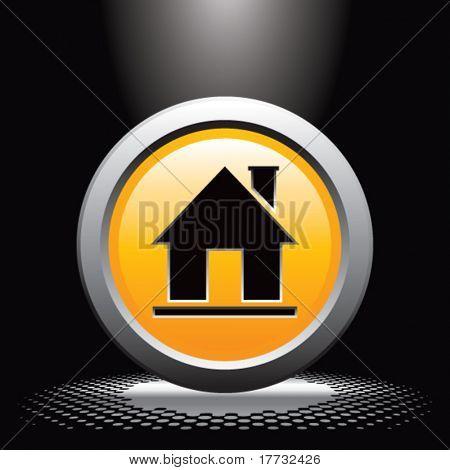 home icon under spotlight