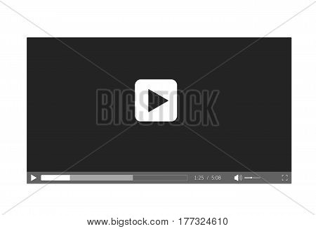 Video player for web site . Video player interface