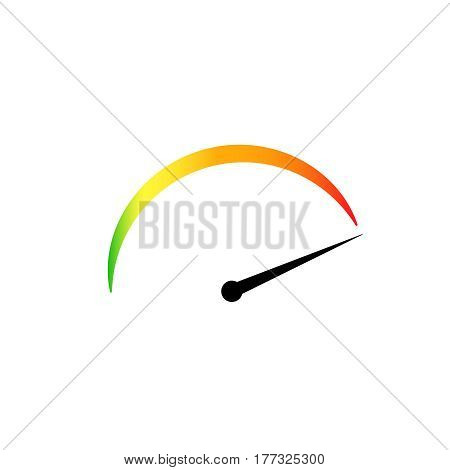 tachometer colored icon . Modern speedometr vector illustration